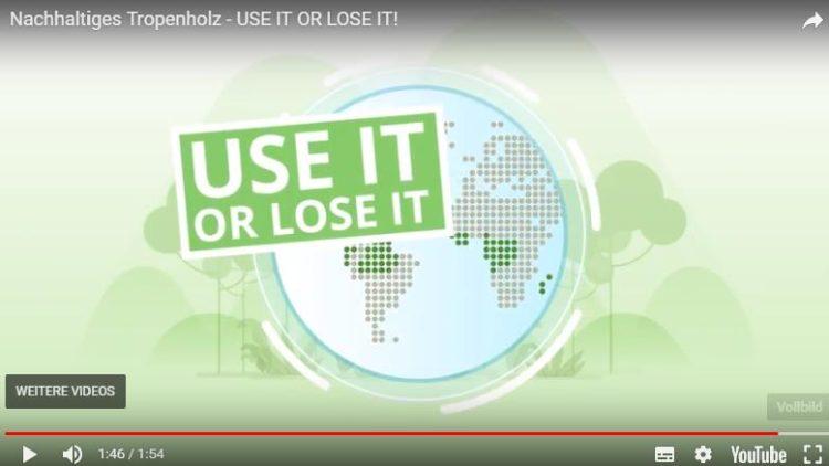 use it or lose it – warum Tropenholznutzung wichtig und richtig ist!